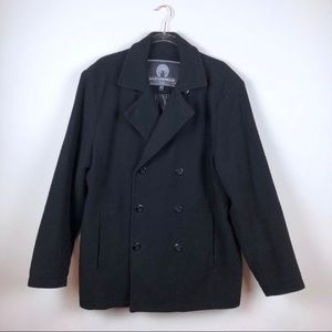 Weatherproof Garment Company Black Pea Coat Large